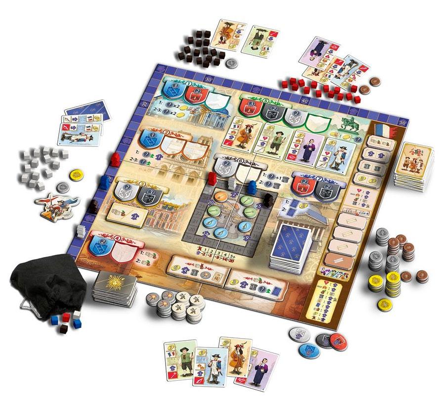 Bastille, aperçu du matériel © Queen Games / Cochard  / Erdt / Behre