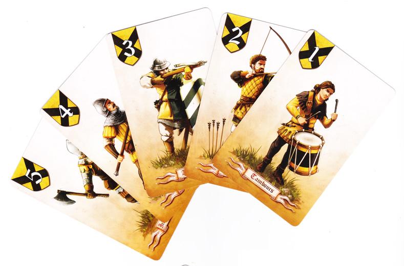 Battle Line Medieval, une armée © Pixie Games / MacDonald / Knizia
