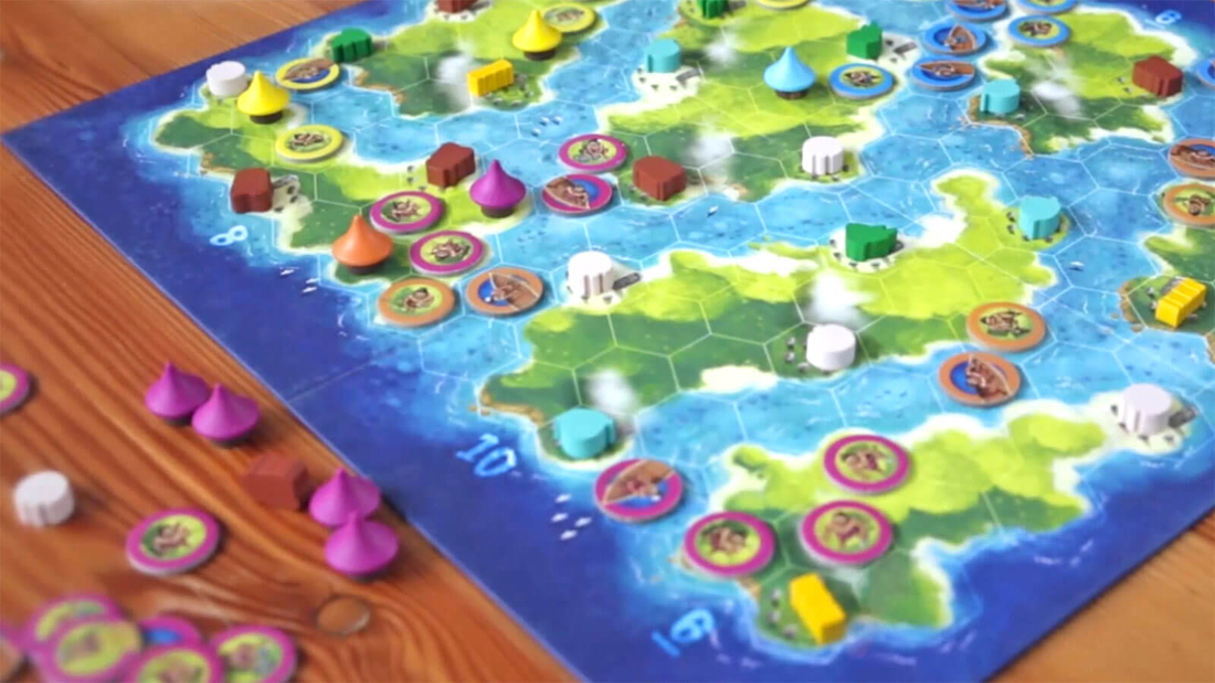 Blue Lagoon, partie en cours © Blue Orange / Larek / Knizia