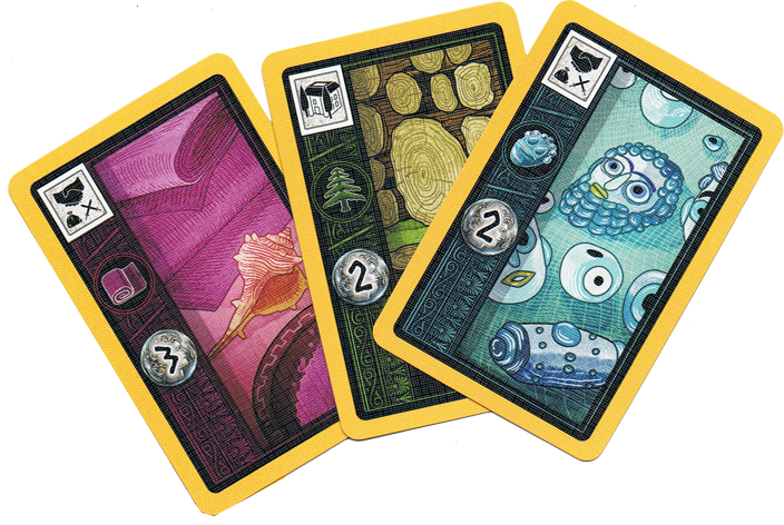 Carthago, quelques cartes Commerce © Capstone Games