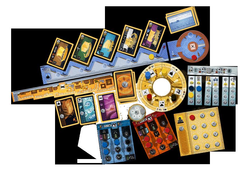 Carthago, aperçu du matériel © Capstone Games