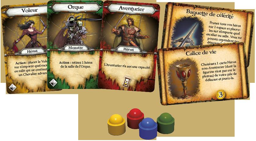 Cave Troll, cartes Personnage, Artefact et compteurs © EDGE