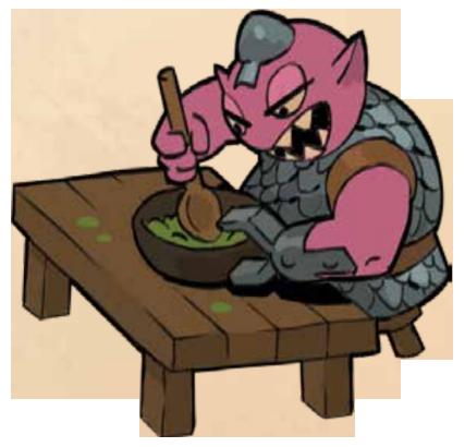 Château Aventure, ne dérangez pasun monstre rose qui mange © Iello
