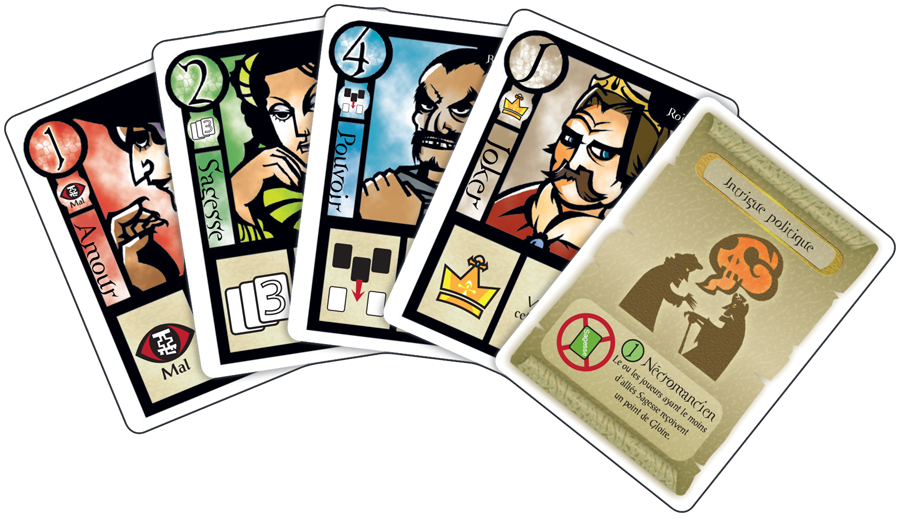 Chronicle, cartes du jeu © Filosofia / Sugiura