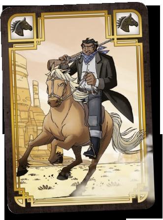 Colt Express, Chevaux et Diligence, carte Chevauchée (sauvage!) © Ludonautes