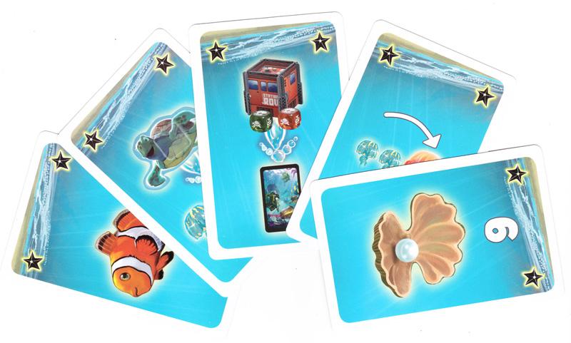 Coralia, les cartes Etoiles de Mer © R&R Games / Coimbra / Rieneck