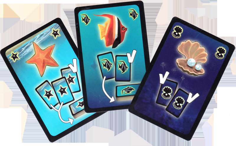 Coralia, des cartes bien utiles... © R&R Games / Coimbra / Rieneck