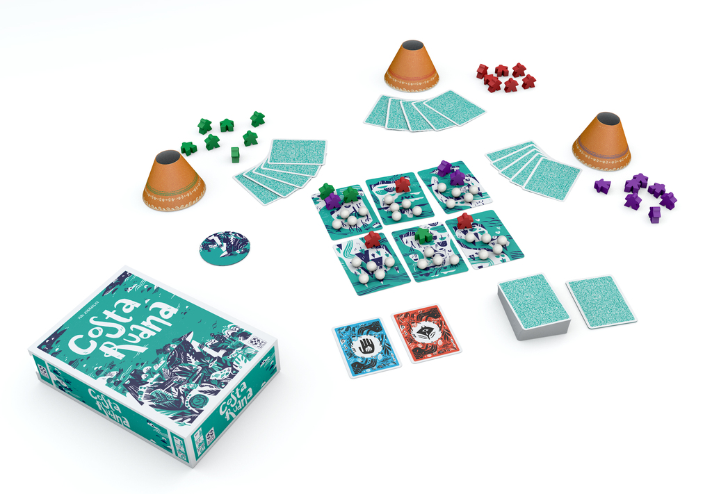Costa Ruana, aperçu du matériel © Lifestyle Boardgames Ltd  / Whishblow / Zhuraviev