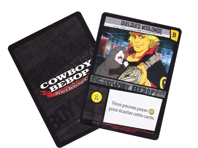 Cowboy Bebop - Space Serenade, carte du deck de base © Don't Panic Games