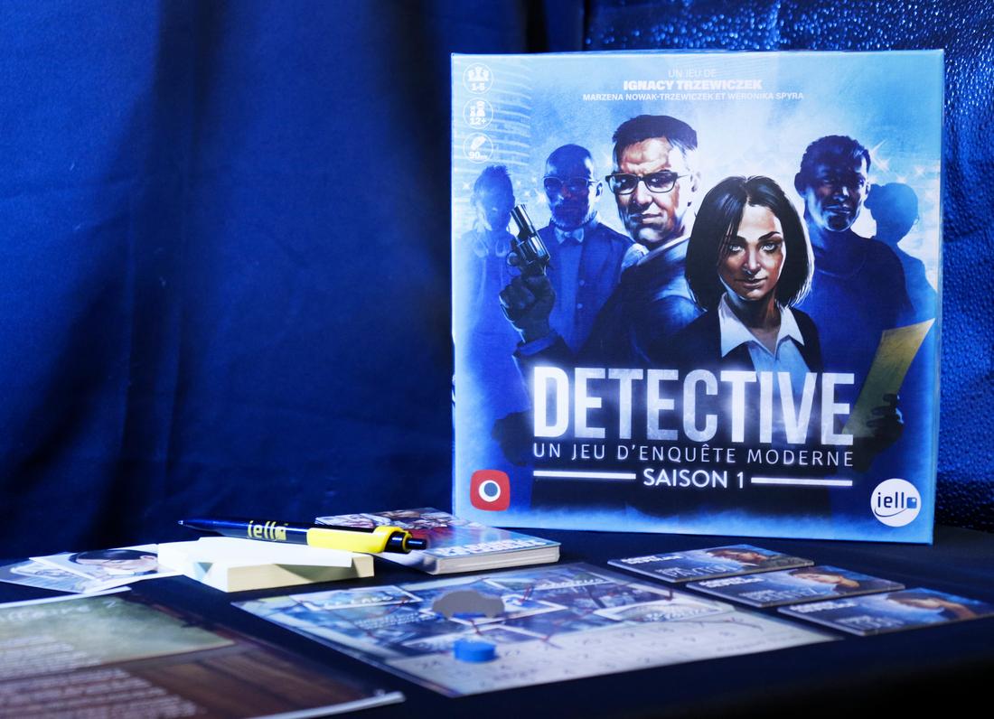 Detective Saison 1, aperçu du matériel © Iello