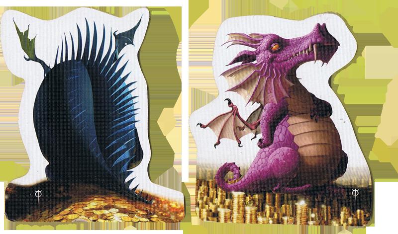 Dragons, un dragon boudeur et un égocentrique © Matagot / Cochard / Faidutti