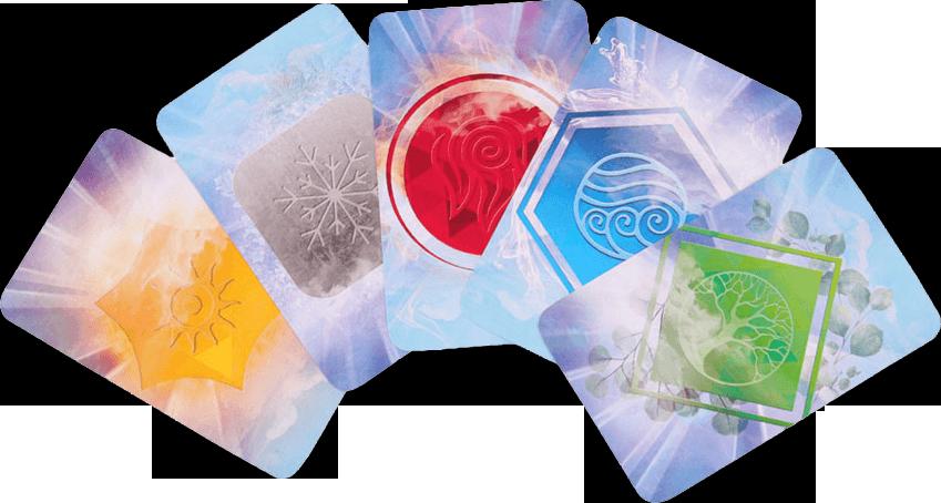 Elastium, les cartes © Lifestyle Boardgames Ltd / Kahana / Shainin