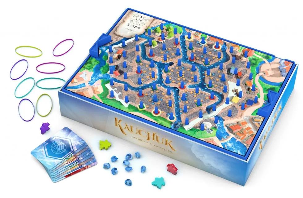 Elastium, aperçu du matériel © Lifestyle Boardgames Ltd / Kahana / Shainin
