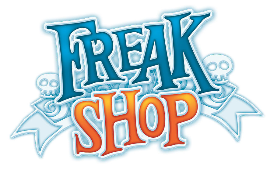 Freak Shop, le logo du jeu © Catch Up Games / Coimbra / Kermarrec