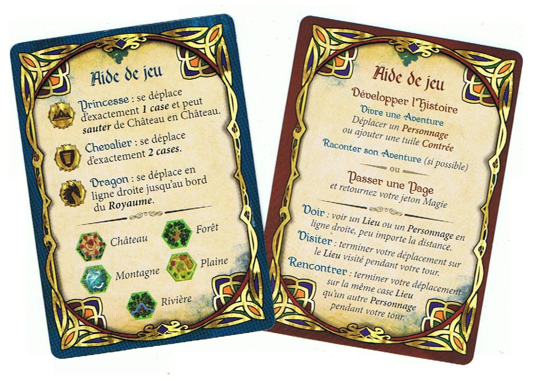 Fairy Tiles, aides de jeu recto et verso... © Iello / Coimbra / Dunstan / Gilbert