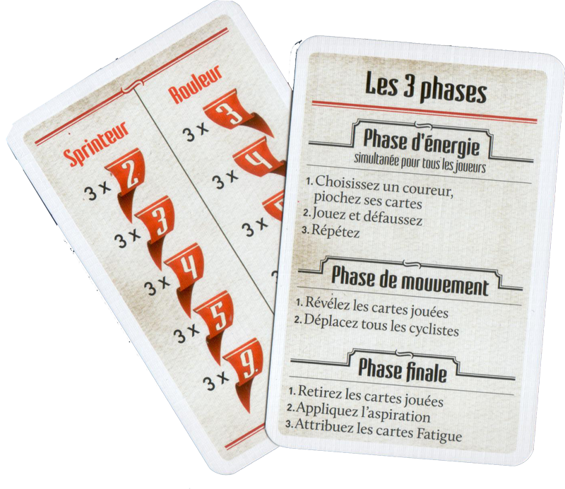 Flamme Rouge, aides de jeu © Gigamic