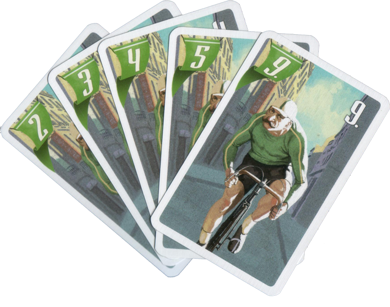 Flamme Rouge, quelques cartes du Sprinter © Gigamic