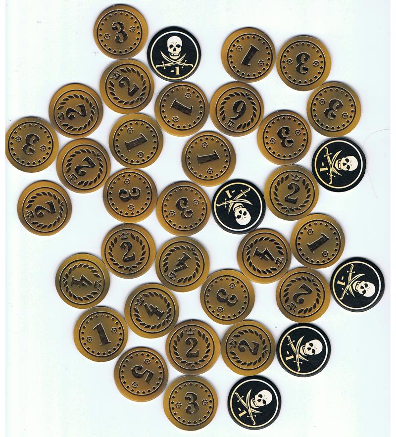Gold Armada, le fameux butin... © Tactic / Knizia