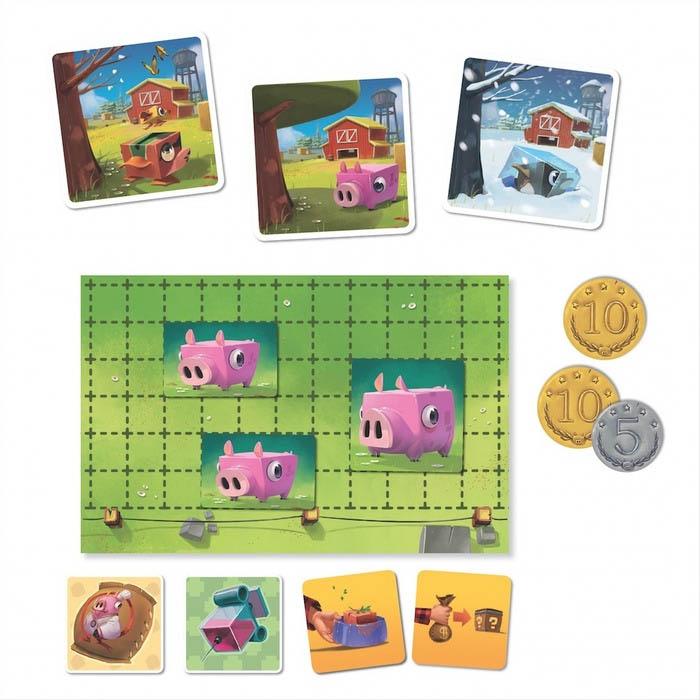 Happy Pigs, un plateau individuel © Iello / Biboun / Mura