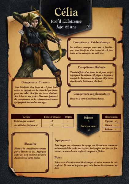Initiation au jeu de Rôle - Medieval Fantasy, fiche de Perso © 404 Editions / Honoré / Lévin