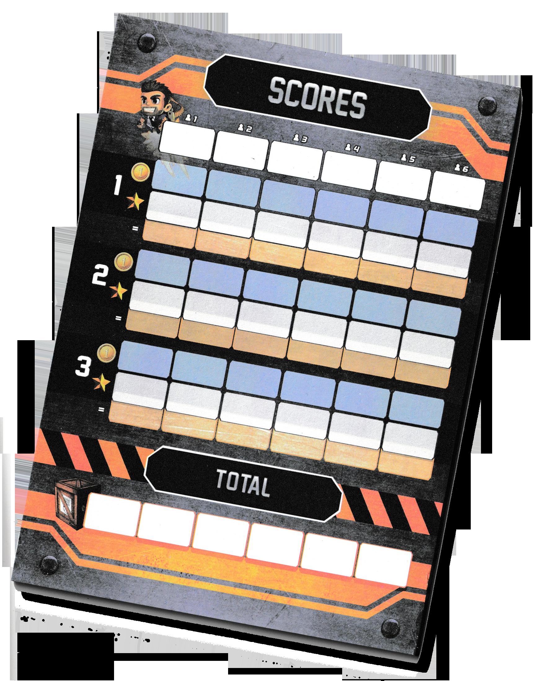 Jetpack Joyride, le carnet de score © Lucky Duck Games