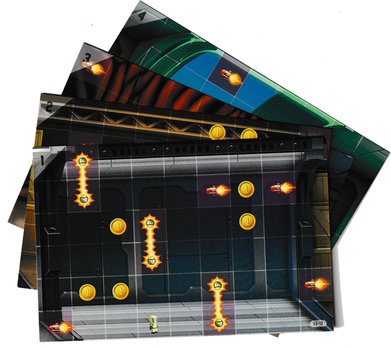 Jetpack Joyride, Cartes Labo © Lucky Duck Games