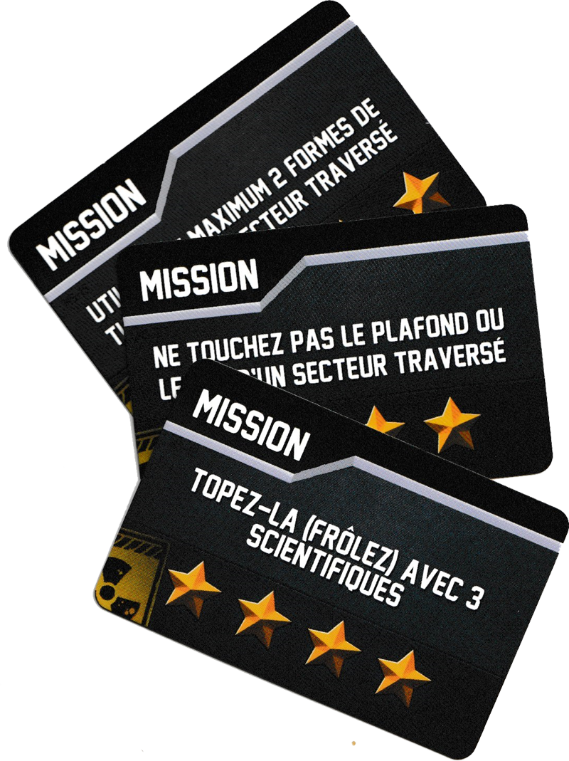 Jetpack Joyride, Cartes Mission © Lucky Duck Games