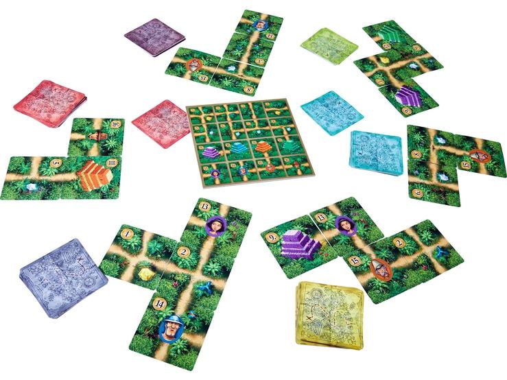 Karuba - jeu de cartes-, aperçu du matos © Haba / Stephan / Dorn