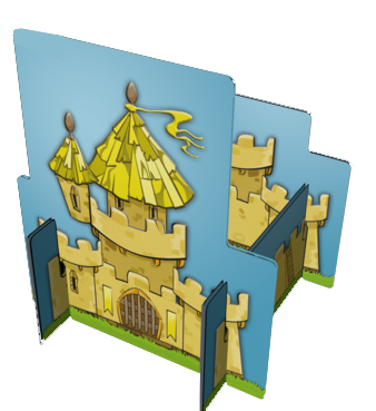 Kingdomino, un Château en 3D © Blue Orange / Bouquet / Cathala