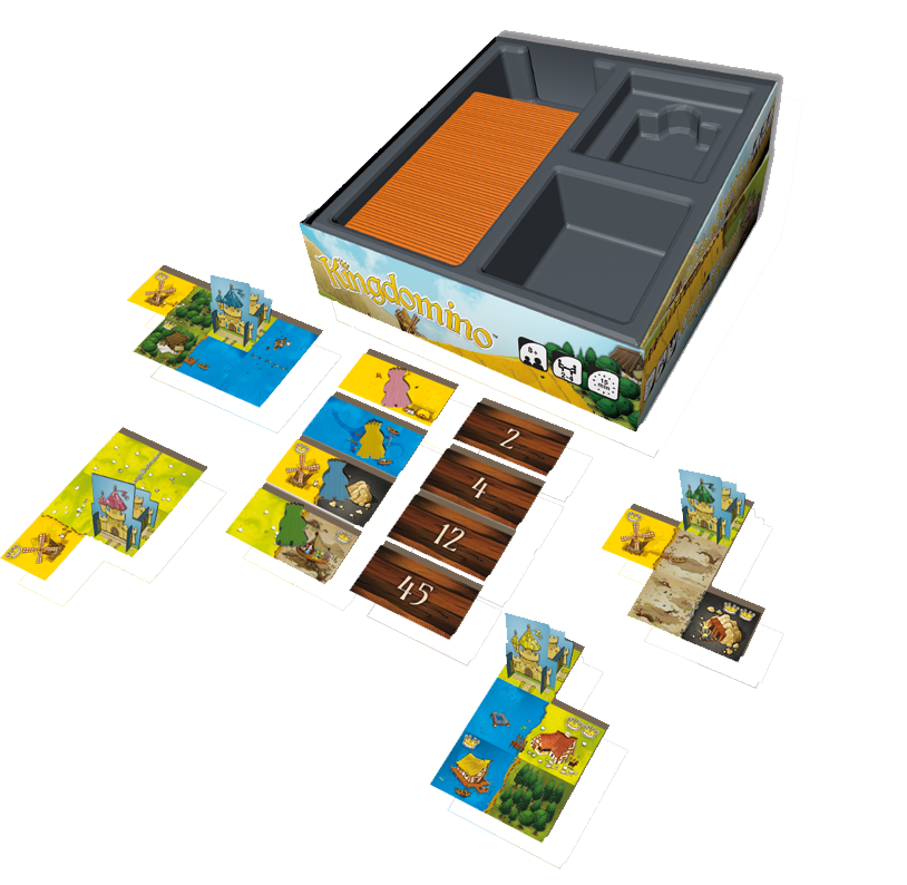 Kingdomino, partie en cours © Blue Orange / Bouquet / Cathala