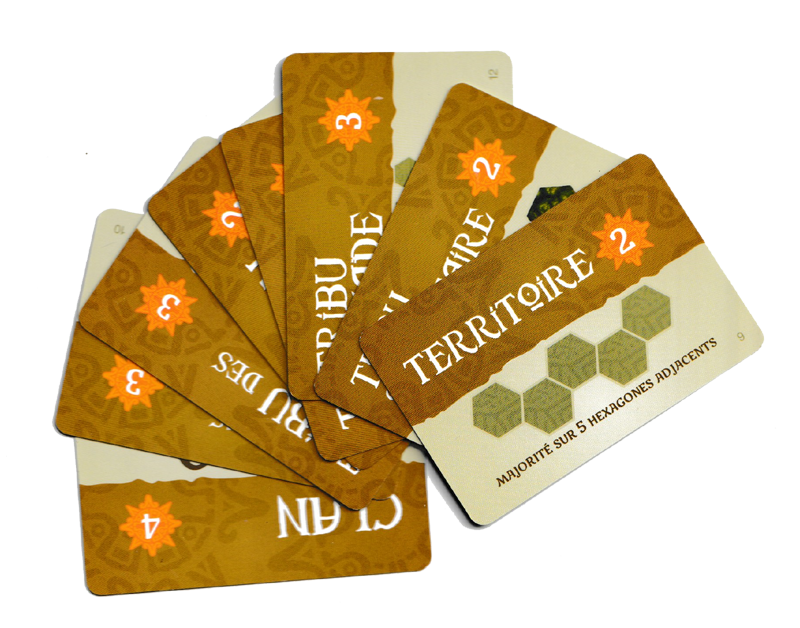 L'Aube Des Tribus, cartes Objectifs : Succès © Gigamic / Books / Shaves / Brooks