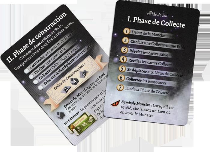 La Forêt des Frères Grimm, cartes Aide de Jeux © Lucky Duck Games / Cuddington / Eisner
