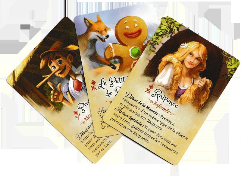 La Forêt des Frères Grimm, de sympathiques (cartes) Amis © Lucky Duck Games / Cuddington / Eisner
