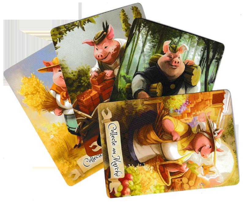 La Forêt des Frères Grimm, les cartes Collecte © Lucky Duck Games / Cuddington / Eisner