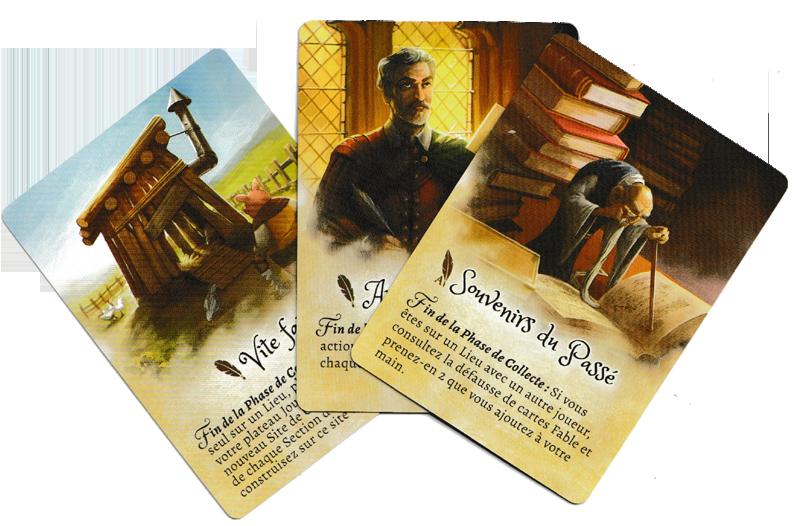 La Forêt des Frères Grimm, quelques Cartes Fables © Lucky Duck Games / Cuddington / Eisner