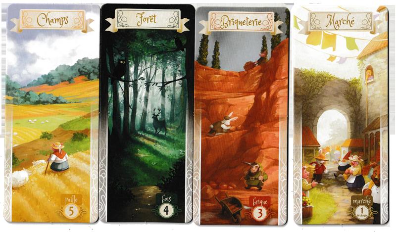 La Forêt des Frères Grimm, les lieux de Collecte © Lucky Duck Games / Cuddington / Eisner