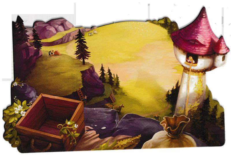 La Forêt des Frères Grimm, un des quatre (somptueux!) plateau de jeu © Lucky Duck Games / Cuddington / Eisner