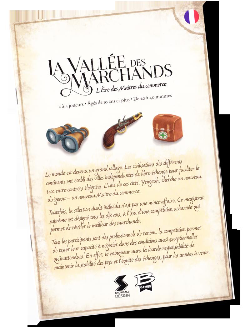 La Vallée des Marchands, l'Ere des Maîtres du Commerce. Le (superbe) livret de règles © Bragelonne / Laakso