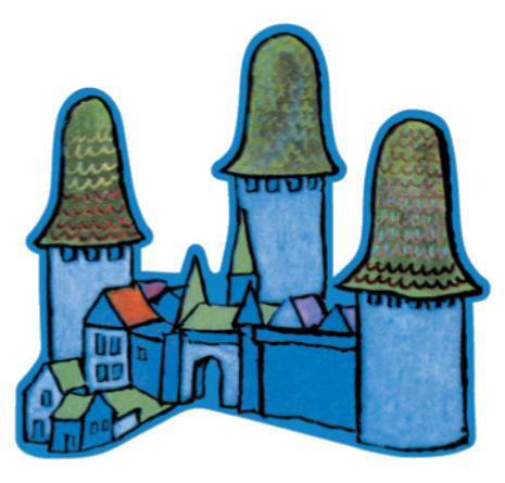 Le jeu des trois brigands, la cité des Brigands © L'Ecole des Loisirs