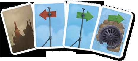 Le Joueur de Flûte, quelques cartes Action © Purple Brain / Leyssenne / Largeaud