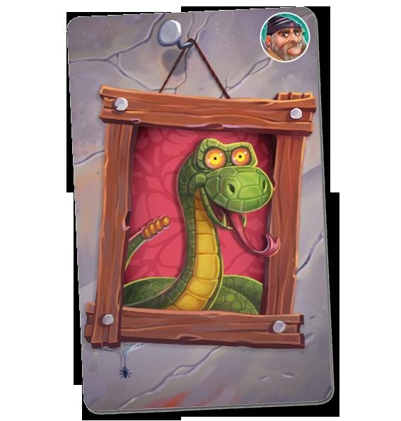 Le Petit Chaperon Rouge, carte serpent © Purpple Brain / Fleury / Lobet