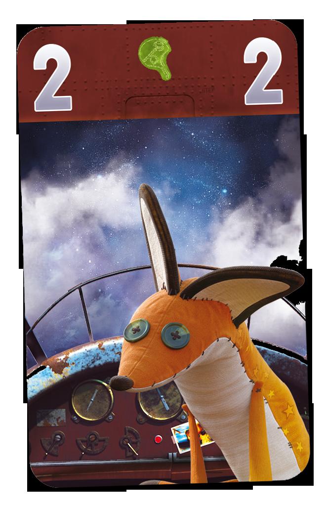 Le Petit Prince - Voyage vers les étoiles, carte du jeu © Ludonautes
