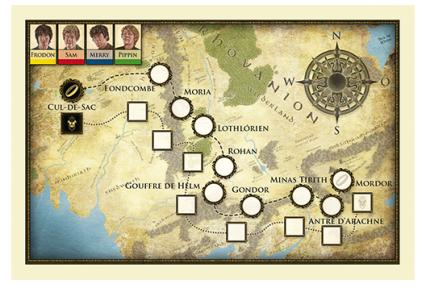Le Seigneur des Anneaux - Voyage au Mordor, la carte © EDGE