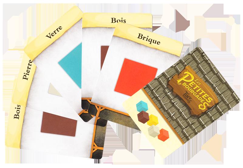 Les Petites Bourgades, des Ressource pour les variantes © Lucky Duck Games