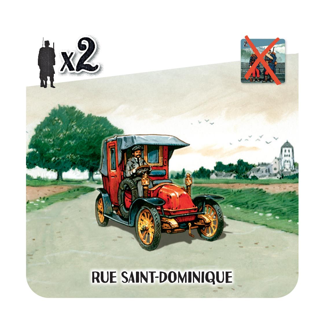 Les Taxis de la Marne, exemple de carte Taxi © Cocktail Games / Dutrait / Caplanne