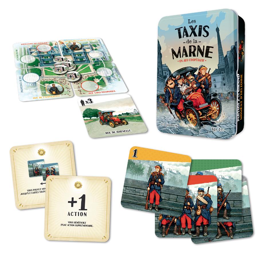 Les Taxis de la Marne, Aaerçu du matériel © Cocktail Games / Dutrait / Caplanne