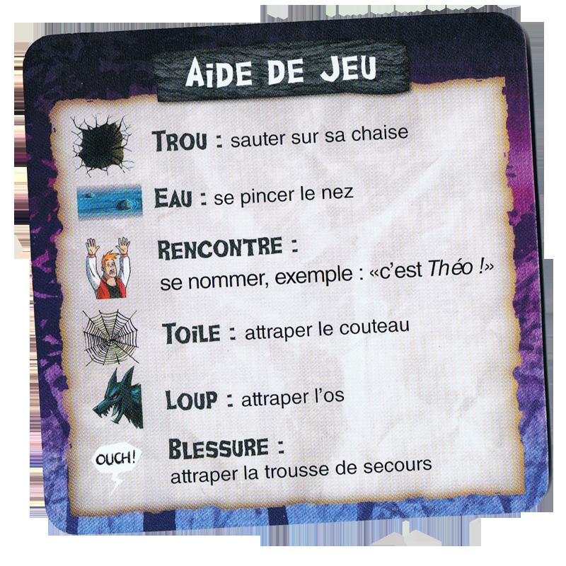 Mad Trip, l'aide de jeu © Gigamic / Aucomte / Bossart / Darras