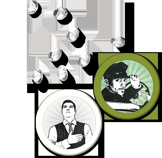 Mafia de Cuba, diamants et jetons Personnage © Lui-Même / Vuarchex