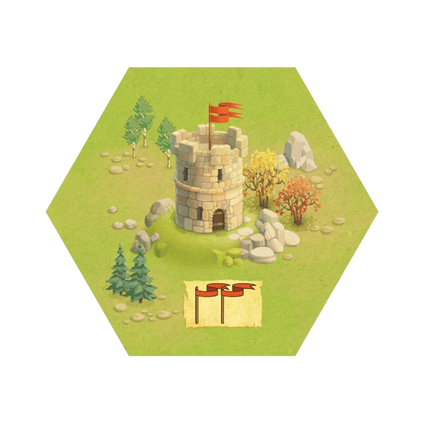 Meeple War, un fortin convoité © Blue Cocker / Heidsieck