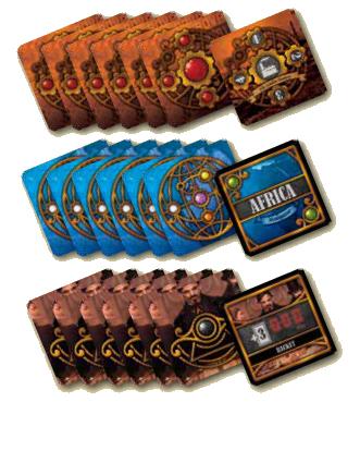 Million Cub, cartes Société,, Colonie et Intrigue © Playad Games / Quidault / Ladagnous